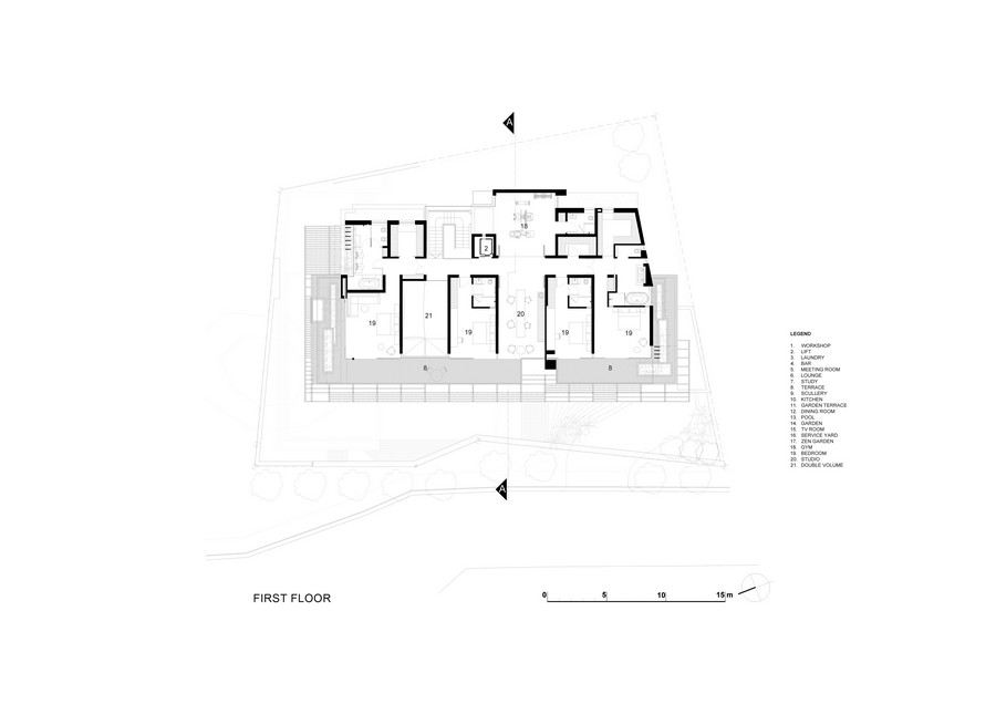 floor plan and blueprint of the SAOTA's-Kloof-151-Project-South-Africa