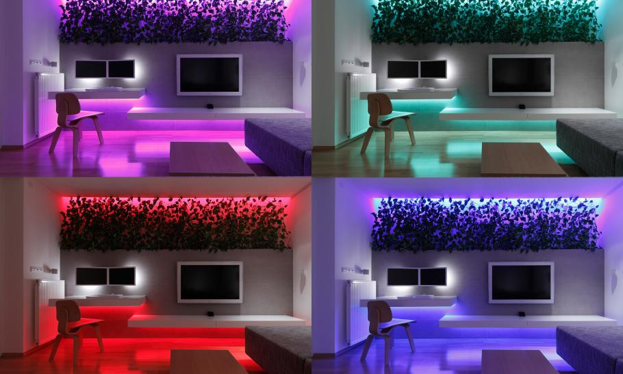 Small Slovakian Apartment Enhanced With LED Lighting ...