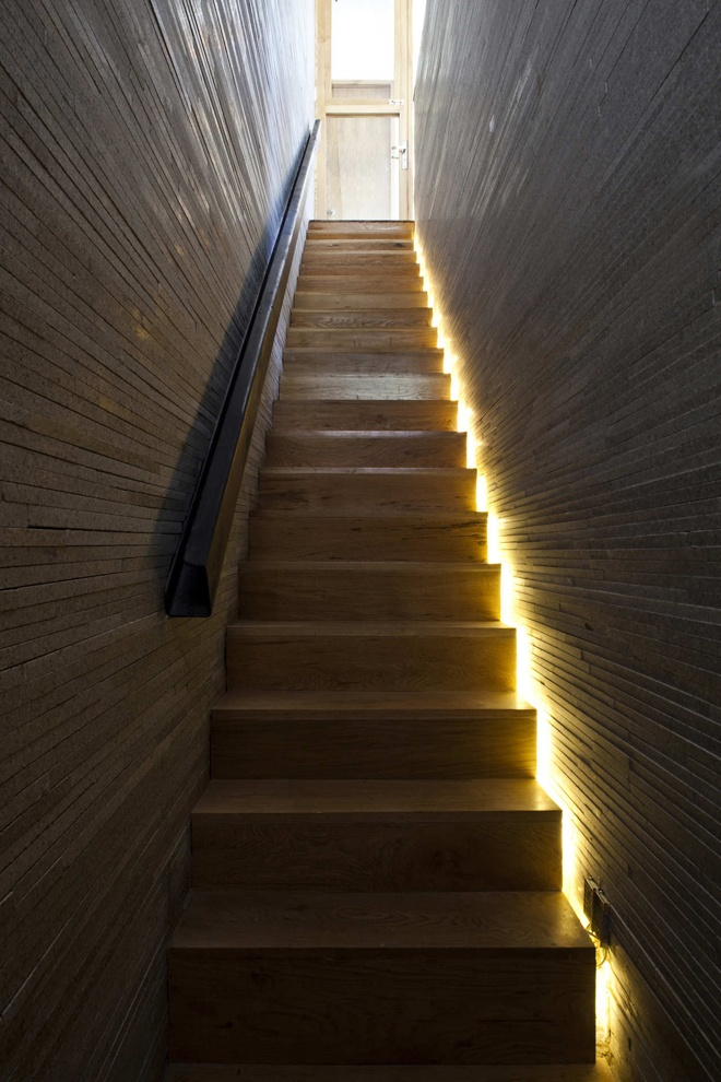 superb staircase in high end materials
