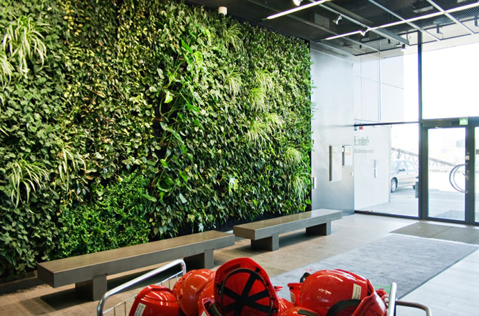 lobby area PlantWalls-–-Greenery-Without-Losing-Floor-Space-Materiallized-by-Green-Fortune