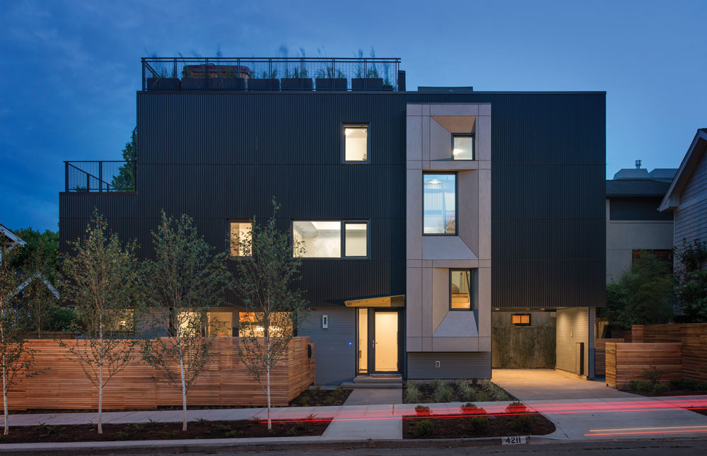 Seattle's 1st Certified Passive House-Street Facade