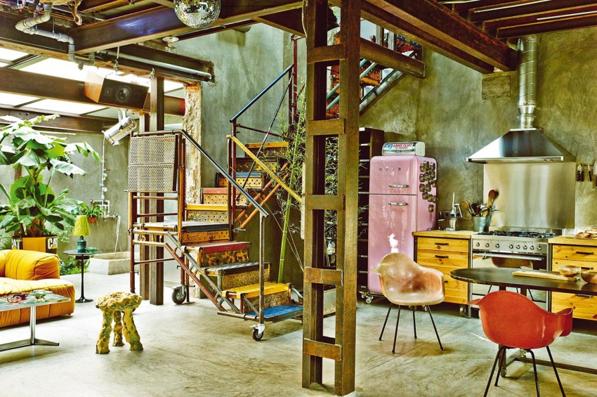 The Colorful Vintage Industrial Style Home Of Gustavo Salmeron In Madrid Homesthetics 5 Homesthetics Inspiring Ideas For Your Home