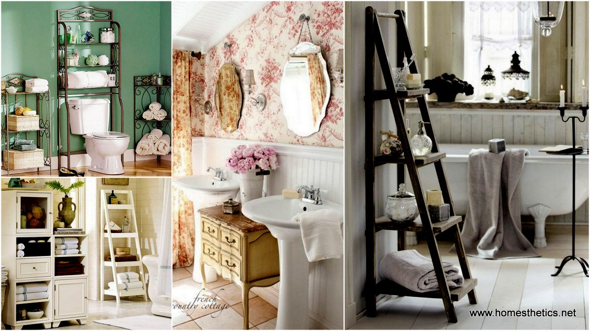 Add Glamour With Small Vintage Bathroom
