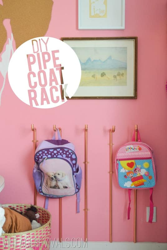A PERFECT DIY COPPER PIPE COAT RACK IDEA FOR YOUR KIDS