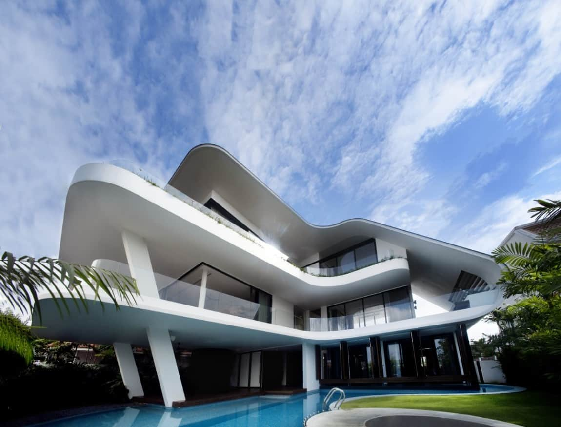 Curved architecture curved architecture · modern mansions exmaples