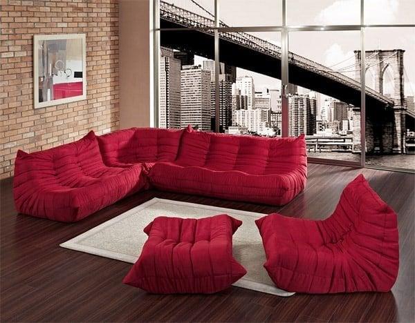 6. SCULPTURAL WAVERUNNER floor level sofa MODULES