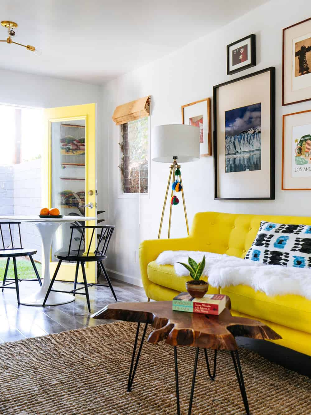 Colorful Home. When You Add A Yellow Sofa In Your Living Room ...