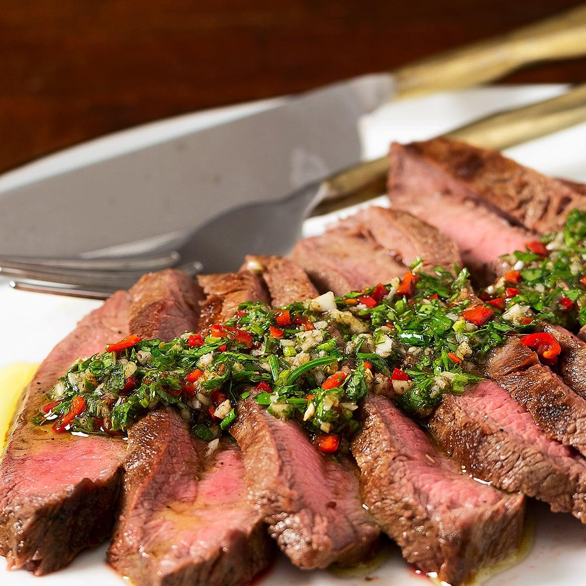 flatiron steak chimichurri