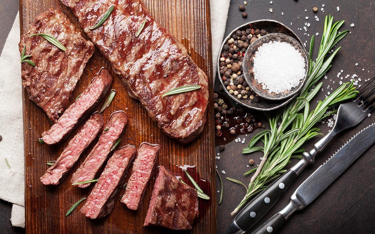 top blade denver grilled steak over shutterstock 1323310355